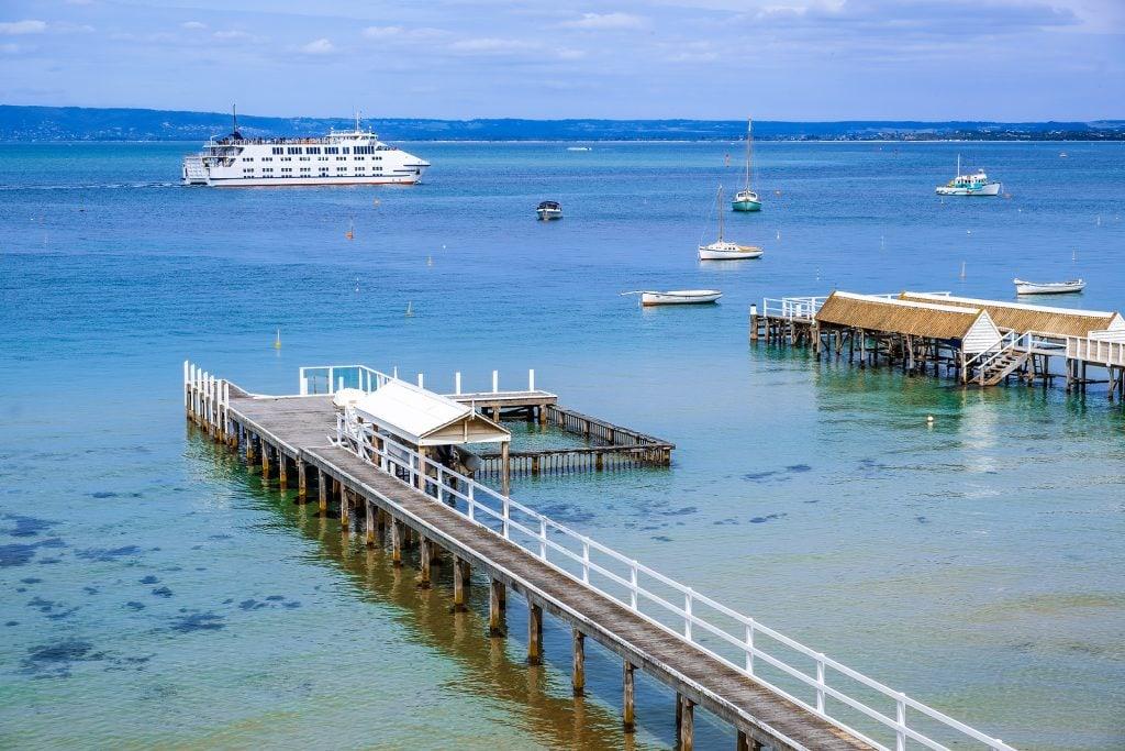 Passenger ferry and wharves